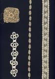 4 1800 lacets différents Images stock