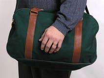 4绿色皮箱旅行 免版税库存图片