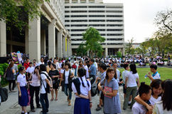 4,200 student waiting for entrance exam Stock Image