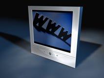4个平面式屏幕电视 库存图片