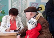 4 2012 presidents- ryss för valmarsch Royaltyfri Bild