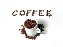 4 σειρές καφέ Στοκ Φωτογραφίες