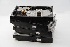 困难4个的磁盘驱动器 库存图片