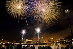 4$ος των πυροτεχνημάτων Ιουλίου Στοκ φωτογραφίες με δικαίωμα ελεύθερης χρήσης