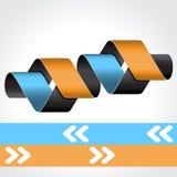 Шаблон сеты - 4 шага, варианты, знамена Стоковое фото RF