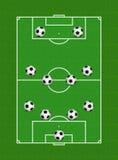 4-4-2 formazione di calcio Fotografia Stock