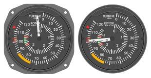 4 480b航空器控制板指示符设置了 库存照片