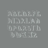 Ретро введенный в моду шрифт элементы конструкции предпосылки 4 снежинки белой Стоковое Изображение
