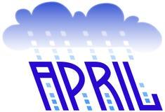 4月 库存例证