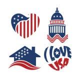 套美国例证-第4 7月庆祝 免版税图库摄影