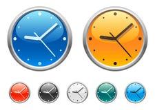 4个时钟图标 免版税库存图片
