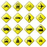 4 8 glansowany drogowy setu znaka wektor Fotografia Stock
