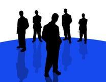 4 бизнесмены теней Стоковая Фотография
