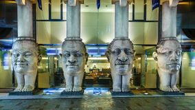 4 abstract heads and legs sculpture at Dotonbori Royalty Free Stock Image