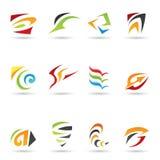 4 abstrakcjonistycznego kształta Zdjęcie Royalty Free