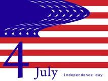 4 abstrakt flagga juli Royaltyfri Bild