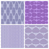 4 abstrakte nahtlose Muster Stockbilder