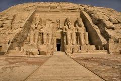 4 abu simbel寺庙 图库摄影