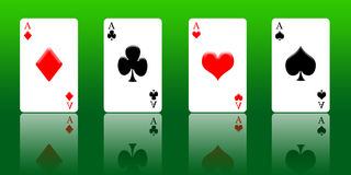 4 Aces Stock Photography