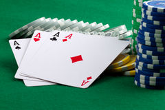 4 aces Stock Image