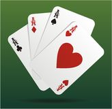 4 aces Royalty Free Stock Images