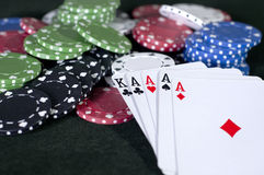 4 Aces and a King Stock Photo