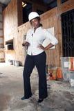 4 admin可爱建筑的女性 免版税图库摄影