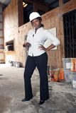 4 admin budowy kobieta urocza Fotografia Royalty Free