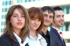4 affärsmedarbetare Arkivfoto