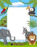 4 afrikanska djur inramniner fotoet vektor illustrationer