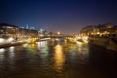 4 afton paris Arkivbilder