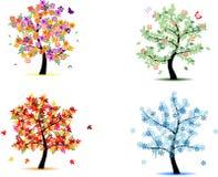 4 alberi di stagione Fotografia Stock Libera da Diritti