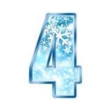 4 alphabet four number winter Στοκ Φωτογραφία