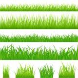 4 ambiti di provenienza di erba verde   Fotografia Stock Libera da Diritti