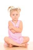 4 anni della ragazza arrabbiata Fotografia Stock Libera da Diritti