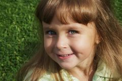 4 anos bonitos da menina idosa Fotos de Stock Royalty Free