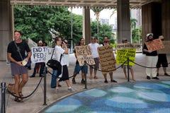 4 anti apec honolulu занимает протест Стоковое Фото