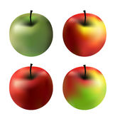 4 apples Stock Photos