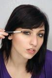 4 applicerar härligt makeupkvinnabarn Arkivbilder