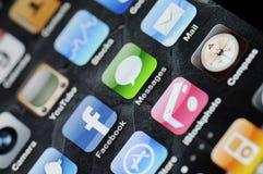 4 apps iphone 库存照片