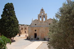 4 arkadi monastary crete Royaltyfri Bild