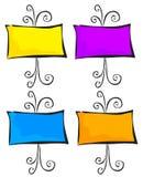 4 armações ornamentado ilustração stock