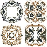 4 art nouveau wallpapers Stock Photo