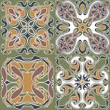 4 art nouveau wallpapers Stock Images