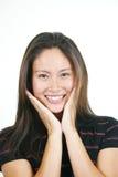4 asiatiska attraktiva flickabarn Royaltyfria Bilder