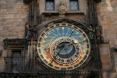 4 astronomical klocka prague Fotografering för Bildbyråer