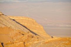 4 atacama峭壁沙漠月亮谷 库存照片