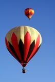 4 balon powietrza dwa gorące Fotografia Royalty Free