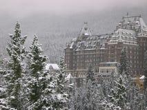 4 banff旅馆 库存照片