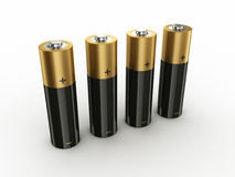 4 Batteries Royalty Free Stock Photos